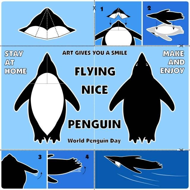 Nice Flying Penguin